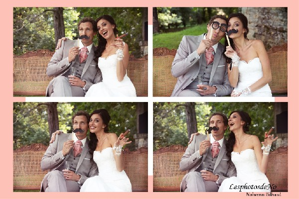 je propose de m'occuper d'un coin photo (photobooth) pendant votre mariage.