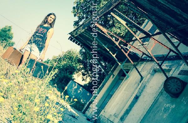 Séance photos à Gardanne avec une future mannequin : création de son book.