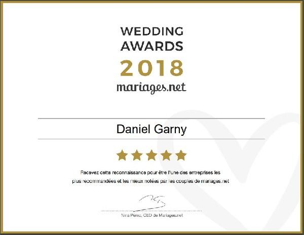 Wedding awards remporté sur Mariages.net 2018