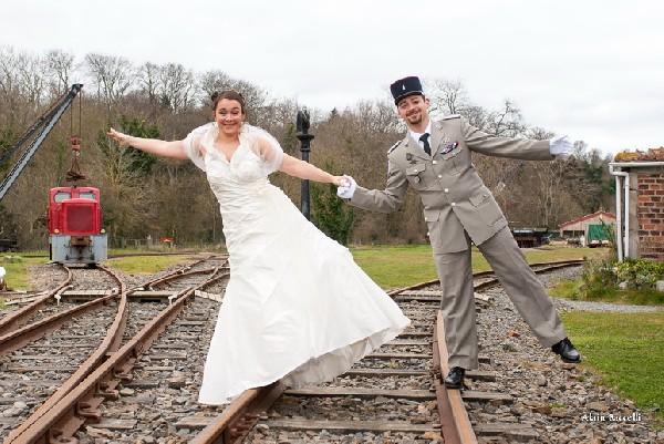 Les mariés en équilibre