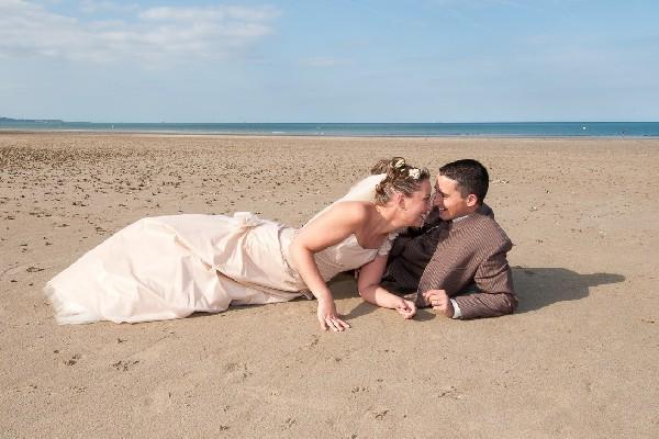 Les mariés à la plage